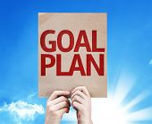 stock photo of goal setting  - Goal Plan card with beautiful day - JPG
