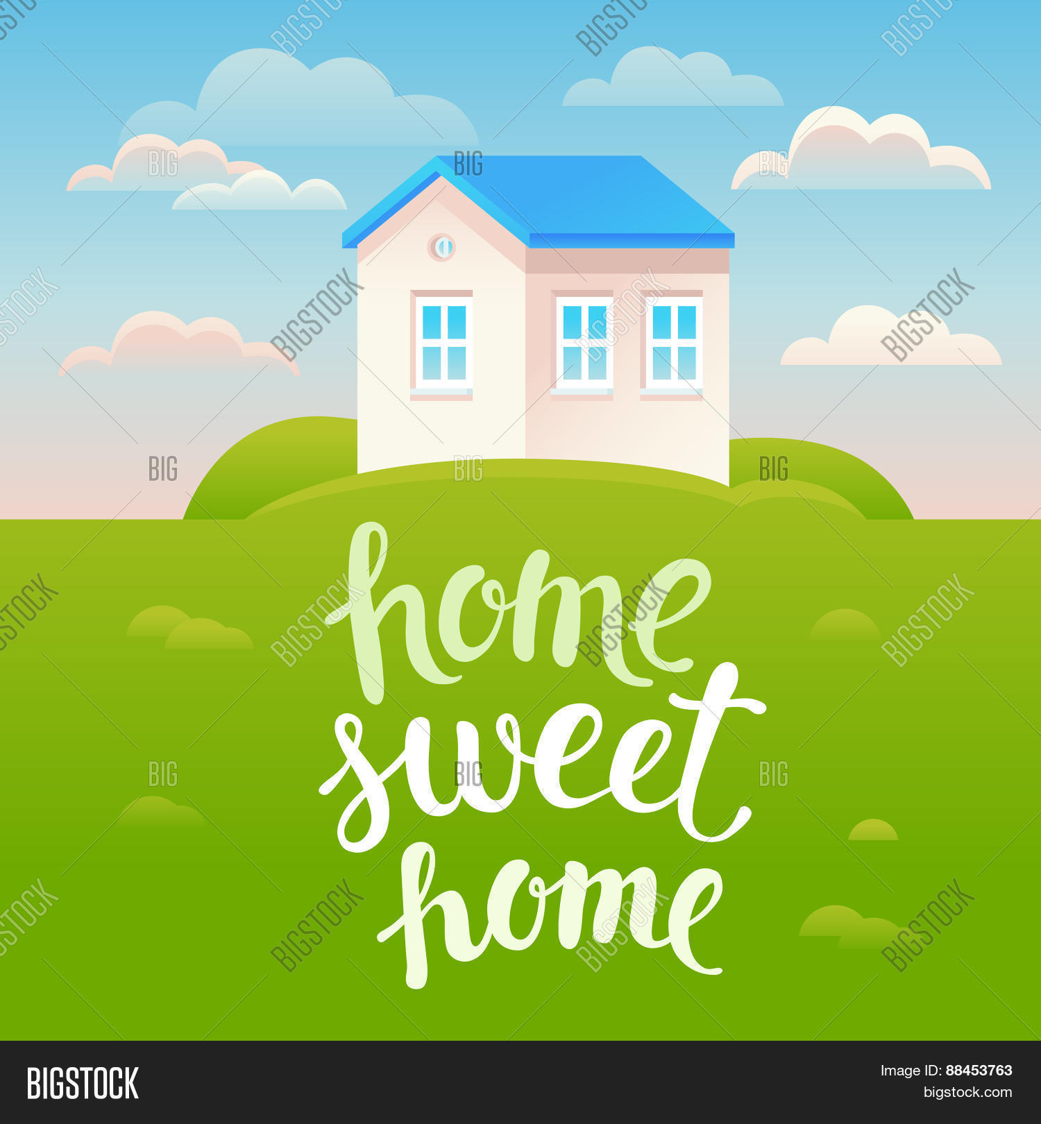vector home sweet home poster vector photo bigstock. Black Bedroom Furniture Sets. Home Design Ideas