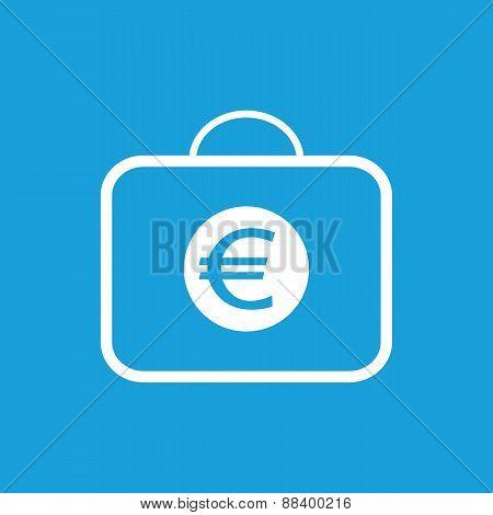 Bag with euro white icon