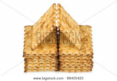 House Built Of Sweet Biscuits With Sesame Seeds