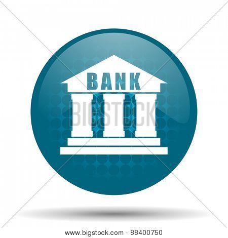 bank blue glossy web icon