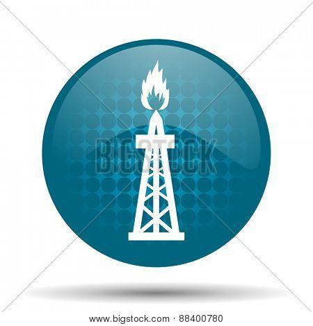 gas blue glossy web icon