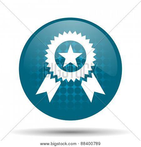 award blue glossy web icon