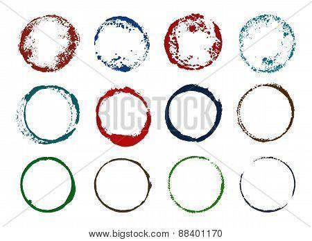 Grunge round imprints
