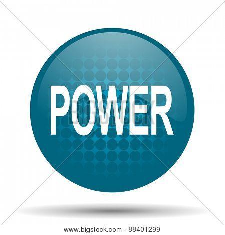 power blue glossy web icon