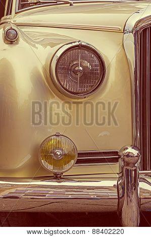 Vintage Look At One Old Luxury Car