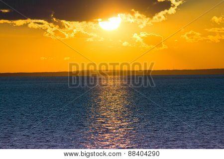 Morning Scene Sunrise over Water