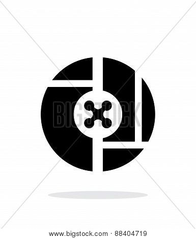Drone on abstract map simple icon on white background.