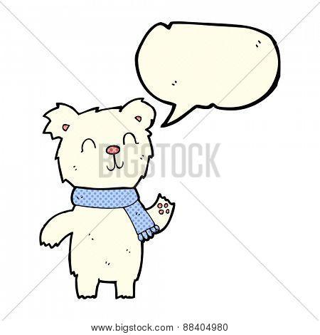cartoon cute polar bear