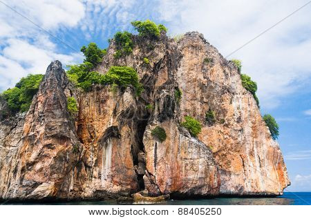 Lagoon Mountains Sea Rocks