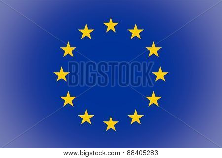 Flag Of Europe Vignetted