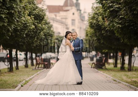 Wedding Couple Walking