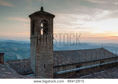 San-Marino Old Town Center Cityscape