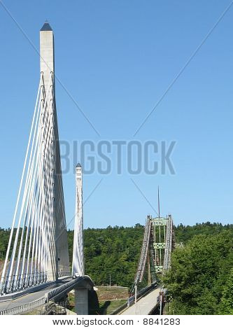 penobscot narrows bridge, old & new