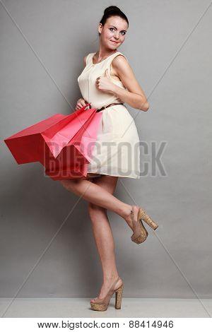 Woman Shopping Time, Sale.