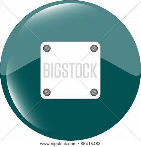 Green Glossy Empty Speech Bubble Web Button Icon
