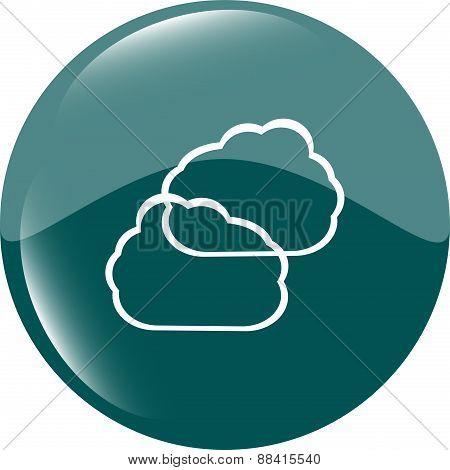 Cloud Green Icon Button