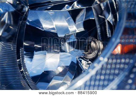 Car Headlight Close-up Xenon