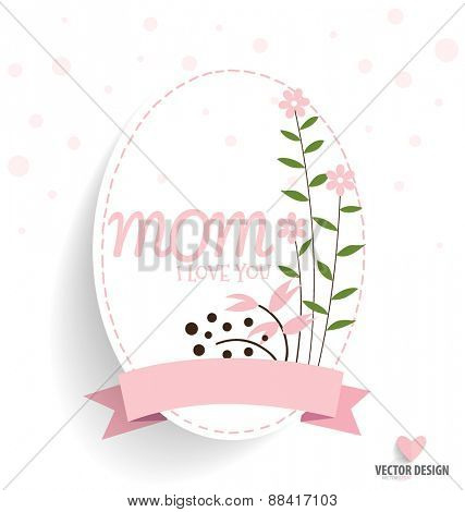 Happy Mother's Day with Floral bouquets background, vector illustration.