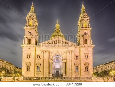 St. Stephen's Basilica and square in Budapest