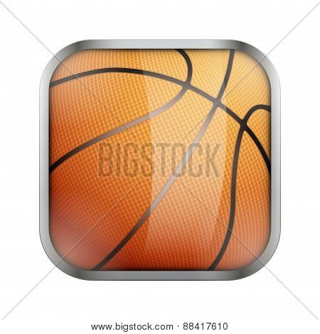 Square icon for basketball app or games