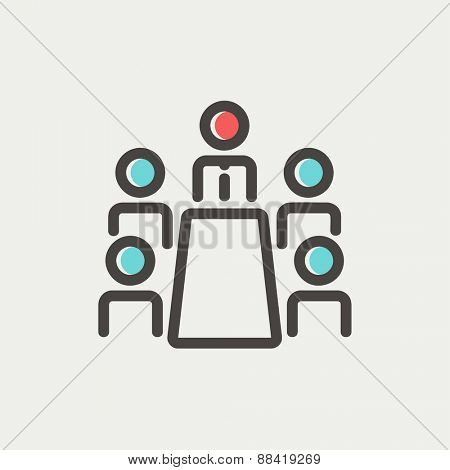 Man and wireless signal icon thin line for web and mobile, modern minimalistic flat design. Vector icon with dark grey outline and offset colour on light grey background.