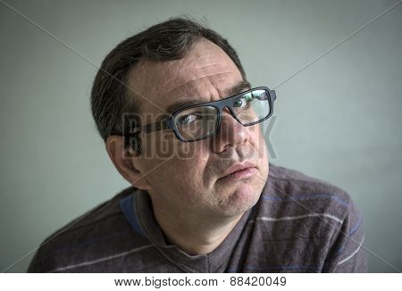 Adult man in glasses