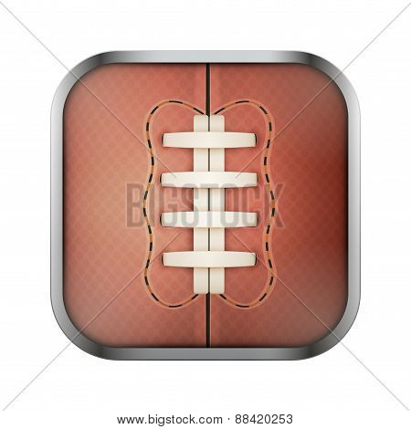 Square icon for rugby app or games