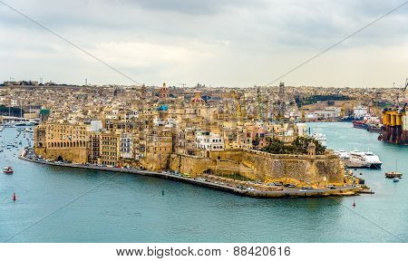 View Of Senglea City In Malta