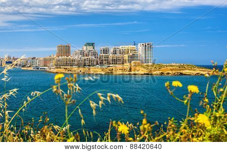 View Of Residential Buildings In Sliema - Malta