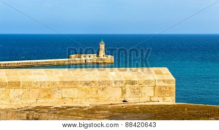 St. Elmo Lighthouse Near Valletta - Malta