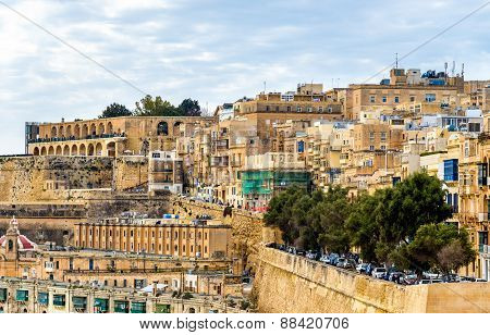 View Of The Old Town Of Valletta - Malta