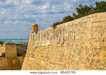 The City Walls Of Valletta - Malta