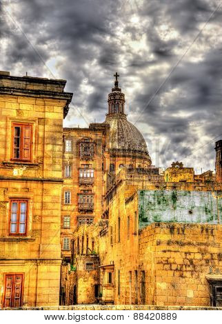 Buildings In The City Center Of Valletta - Malta