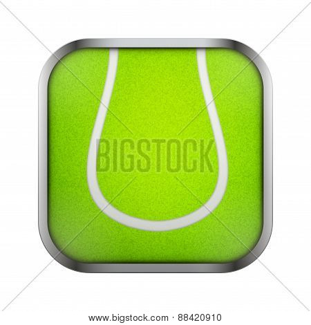 Square icon for tennis app or games