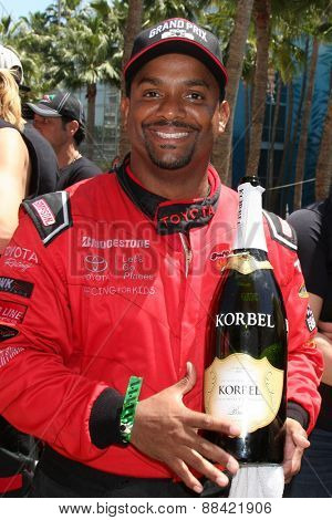 LOS ANGELES - FEB 18:  Alfonso Ribeiro at the Toyota Grand Prix Pro/Celeb Race at the Toyota Grand Prix Racecourse on April 18, 2015 in Long Beach, CA