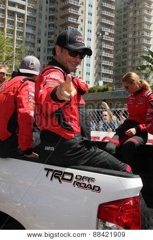 LOS ANGELES - FEB 18:  Raul Mendez at the Toyota Grand Prix Pro/Celeb Race at the Toyota Grand Prix Racecourse on April 18, 2015 in Long Beach, CA