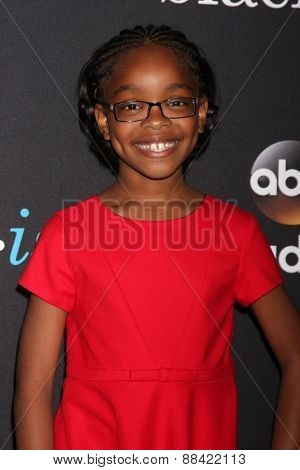 LOS ANGELES - FEB 17:  Marsai Martin at the