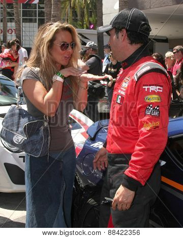 LOS ANGELES - FEB 18:  Kate del Castillo, Raul Mendez at the Toyota Grand Prix Pro/Celeb Race at the Toyota Grand Prix Racecourse on April 18, 2015 in Long Beach, CA
