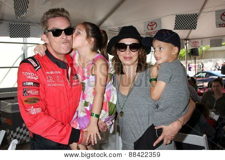 LOS ANGELES - FEB 18:  Mark McGrath, Family at the Toyota Grand Prix Pro/Celeb Race at the Toyota Grand Prix Racecourse on April 18, 2015 in Long Beach, CA