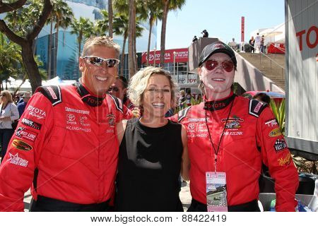 LOS ANGELES - FEB 18:  Dave Pasant and wife, John Rzeznik at the Toyota Grand Prix Pro/Celeb Race at the Toyota Grand Prix Racecourse on April 18, 2015 in Long Beach, CA