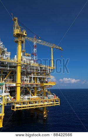 Offshore oil and gas production and exploration business. Production oil and gas plant