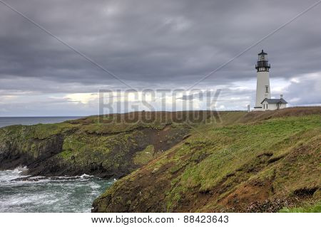 Lighthouse on the pacific coast.