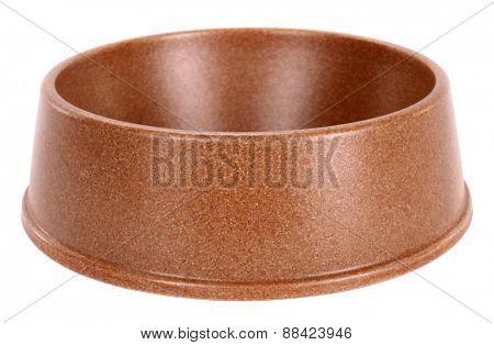 Pet dog bowl brown