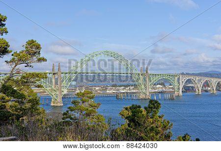 Yaquina Bay Bridge.