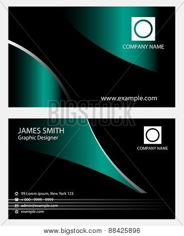 Business cards template design