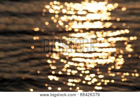 golden light on water