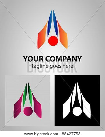 Letter A logo icon design template elements abstract symbol