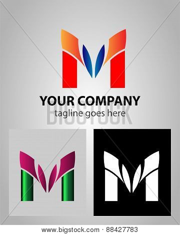 Letter M logo icon design template elements abstract symbol