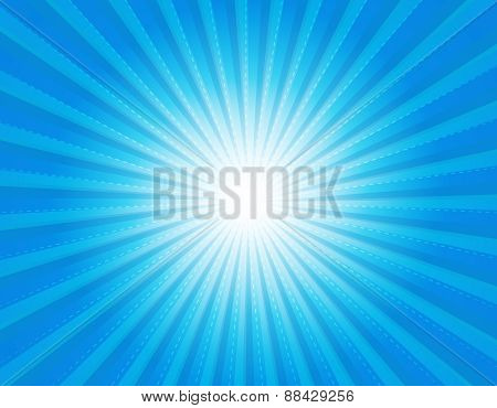 Blue Retro Star-burst Background